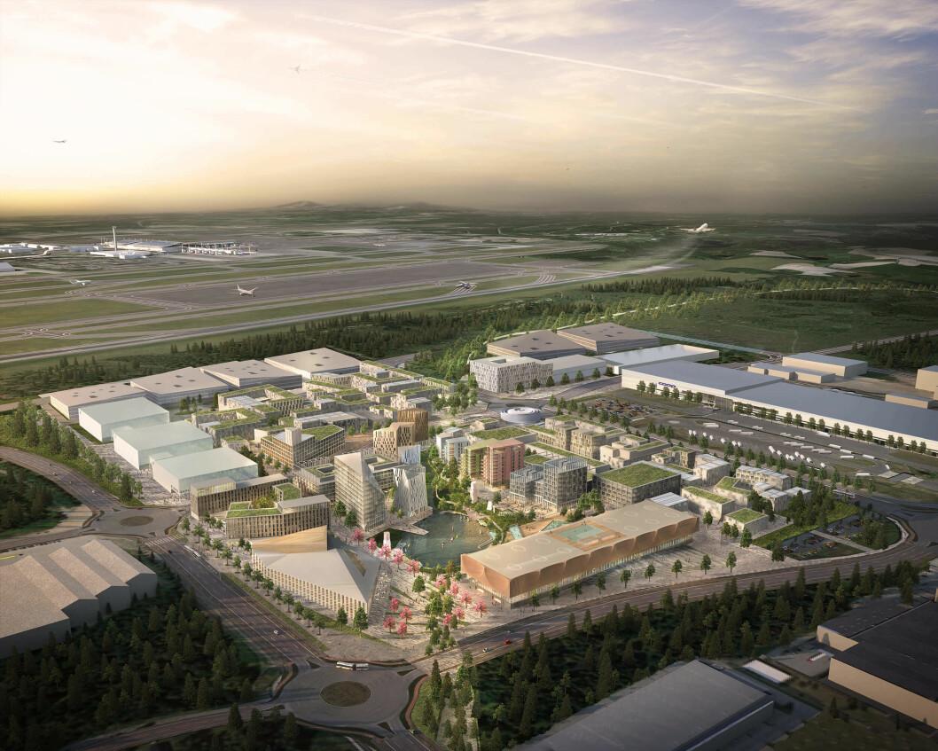 NOMINERT: Oslo Airport City er nominert til World Architecture Festival Awards 2019.