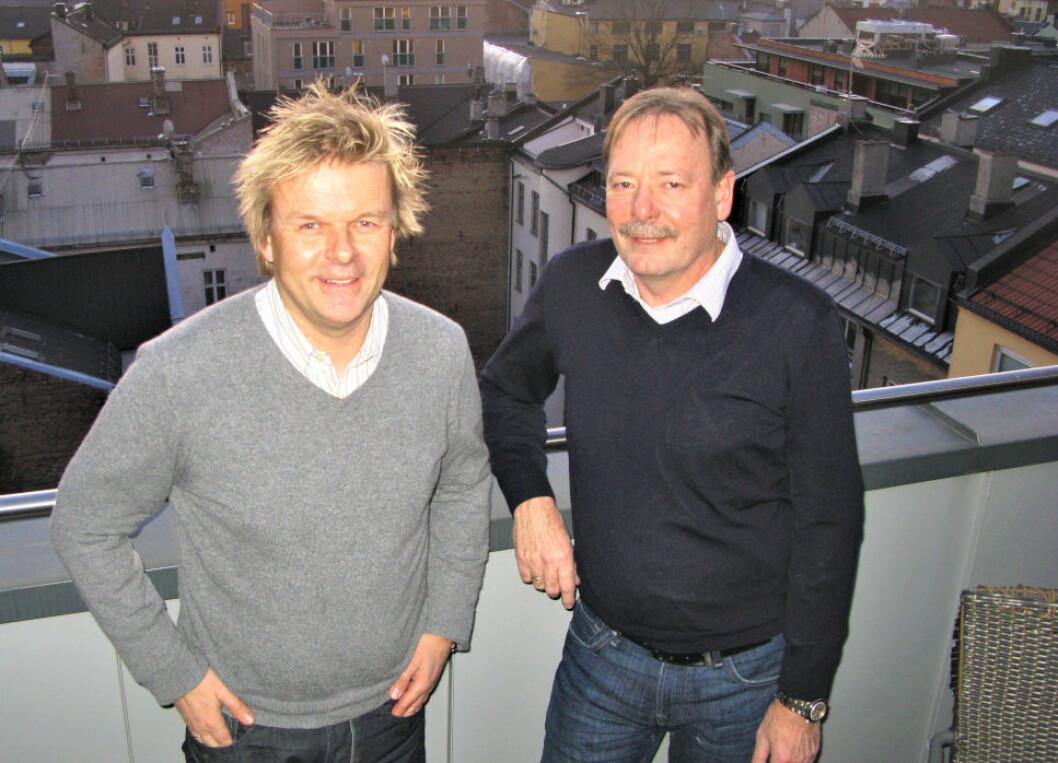 UTLEIEKONGER: Fra venstre Bjørn-Erik Indahl og Kjell Kristoffersen i IK Gruppen.