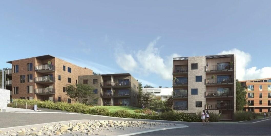 26 LEILIGHETER: Neptune Properties ønsker å bygge 26 leiligheter på det 6 dekar store planområdet. Ill: A-lab