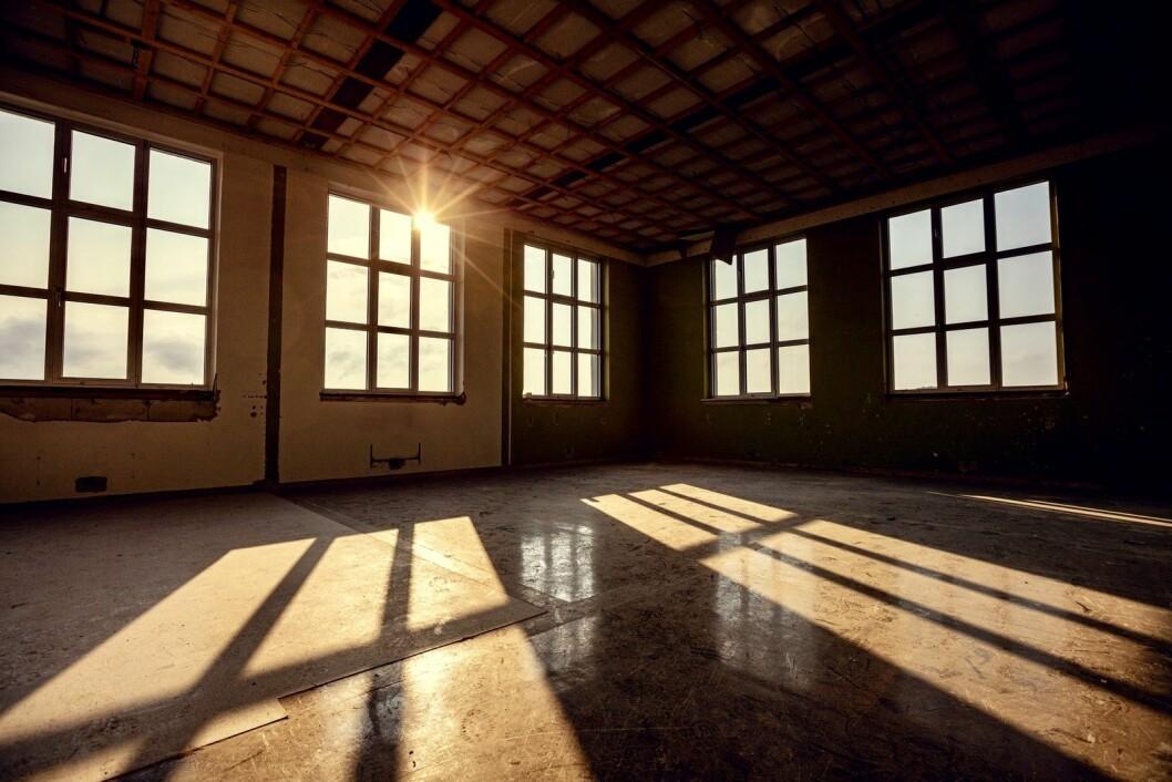 GJENBRUK: Snart blir det leiligheter i den gamle skolebygningen. Foto: Pilares