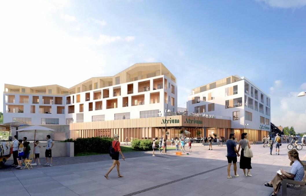 ATRIUM: Sik ser AMB Arkitekter for seg prosjektet i Vennesla.