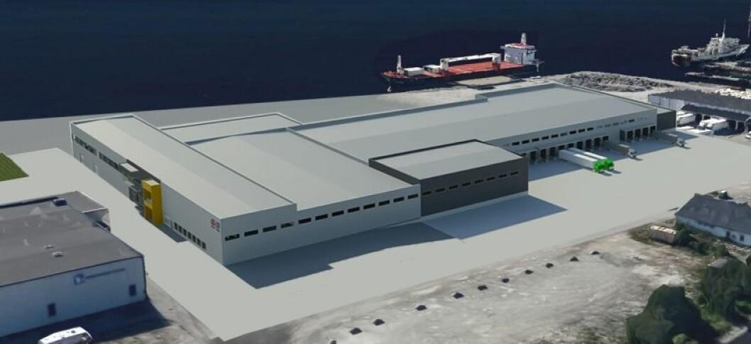 11 000 M2: Her vil Posten og Bring bygge ca. 11 000 kvadratmeter. Ill.: Posten/Bring