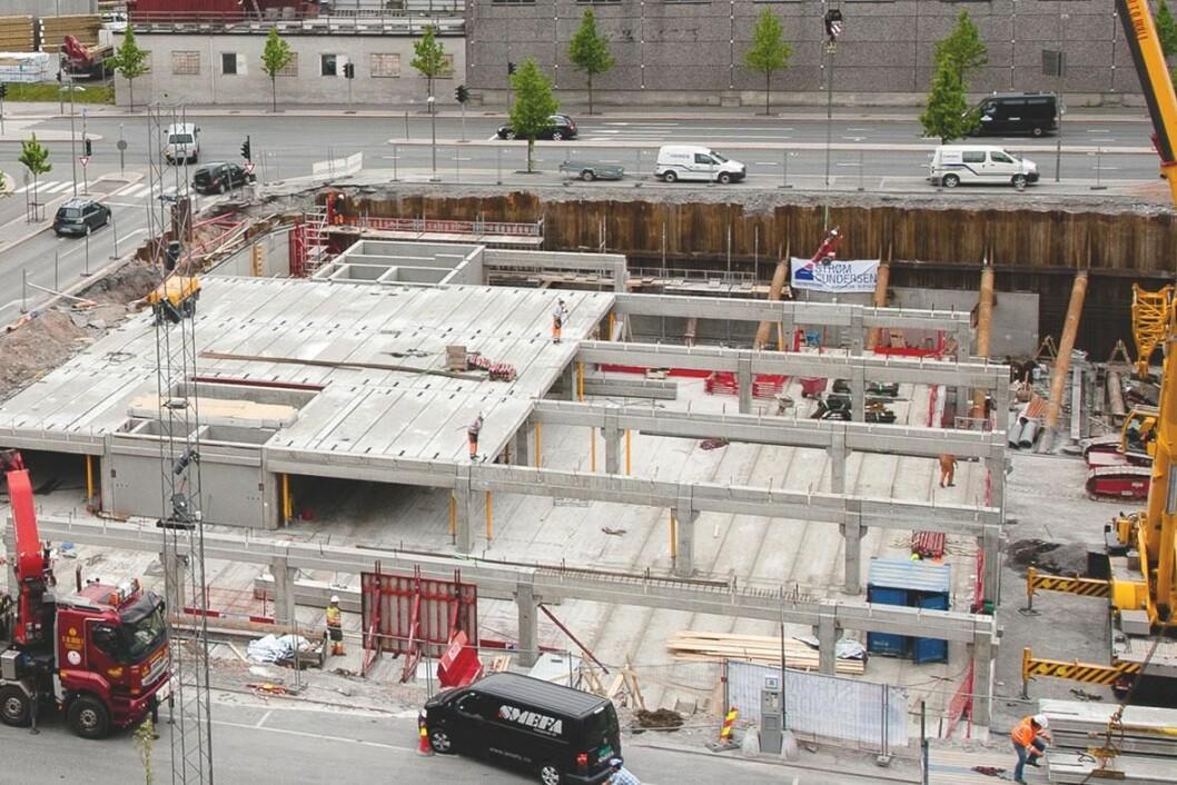 BEDRE: En ny rapport viser at betong er mer miljøvennlig enn tre i høye byggeprosjekter. Ill..: Loe Betongelementer Tekla