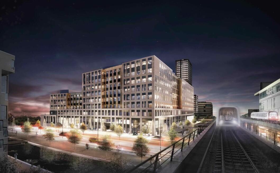 BYLIV: KLPs nye kontorbygg skal bidra til et bedre byliv på Ørestad.