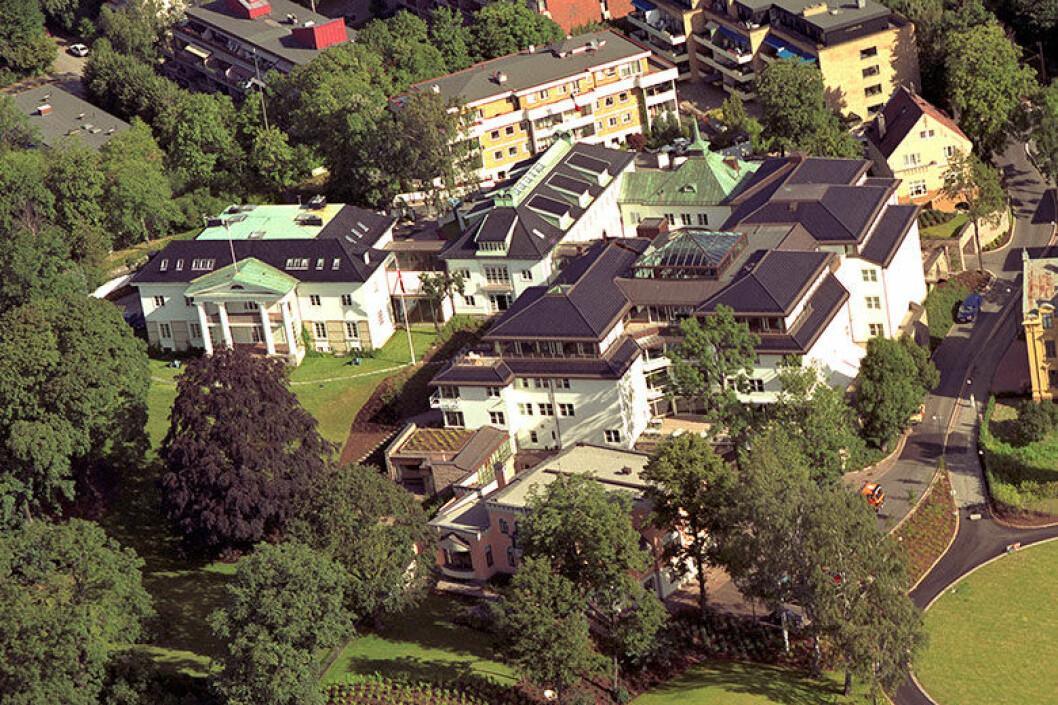 GOD BELIGGENHET: Bergehus ligger på en av Oslos flotteste tomter. Foto: Eiendomsspar.