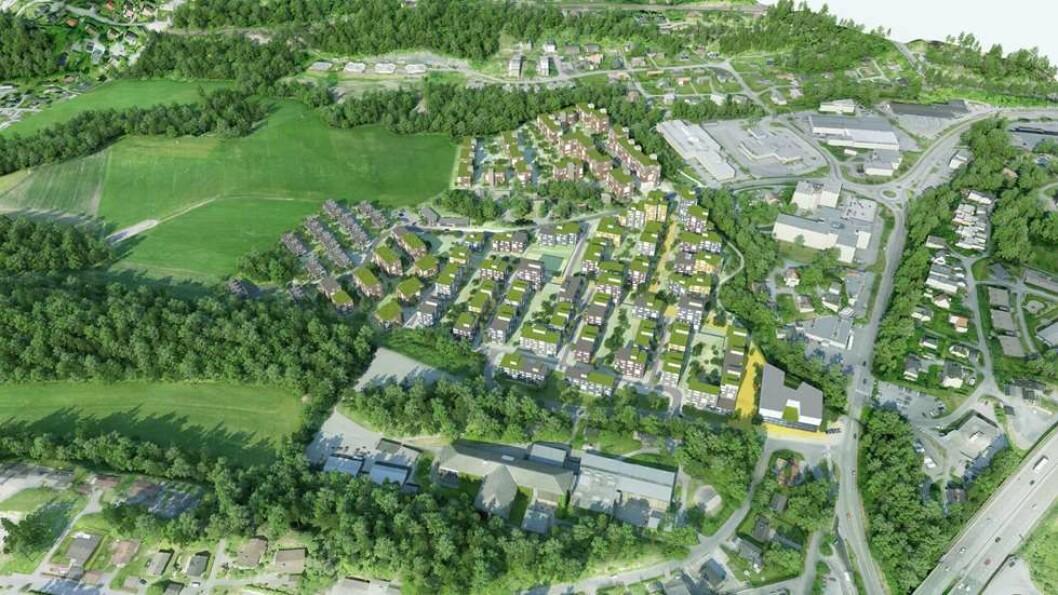 VESTRE BILLINGSTAD: Byggingen av Askers største boligprosjekt noensinne er i gang, og kundene strømmer til.