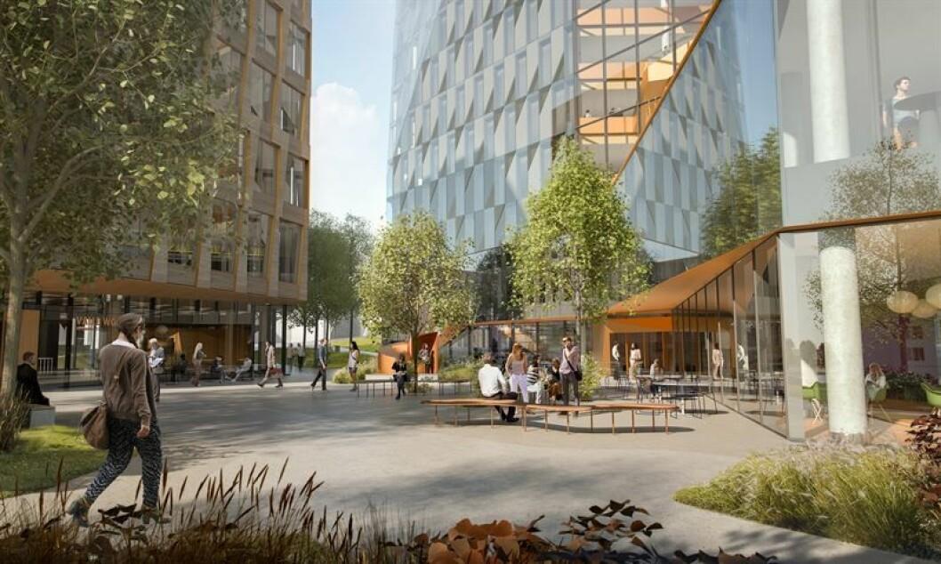 STORT PROSJEKT: Valle View Torg er en del av storprosjektet på Valle: Ill.: NCC/Lund+Slaatto Arkitekter