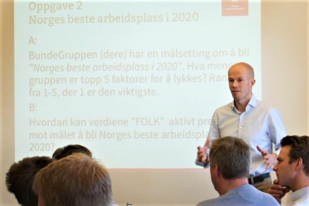 HAR SNUDD TRENDEN: Odd-Erik Bunde er glad for at entreprenørvirksomheten i BundeGuppen leverer positive resultater etter flere år med store underskudd.