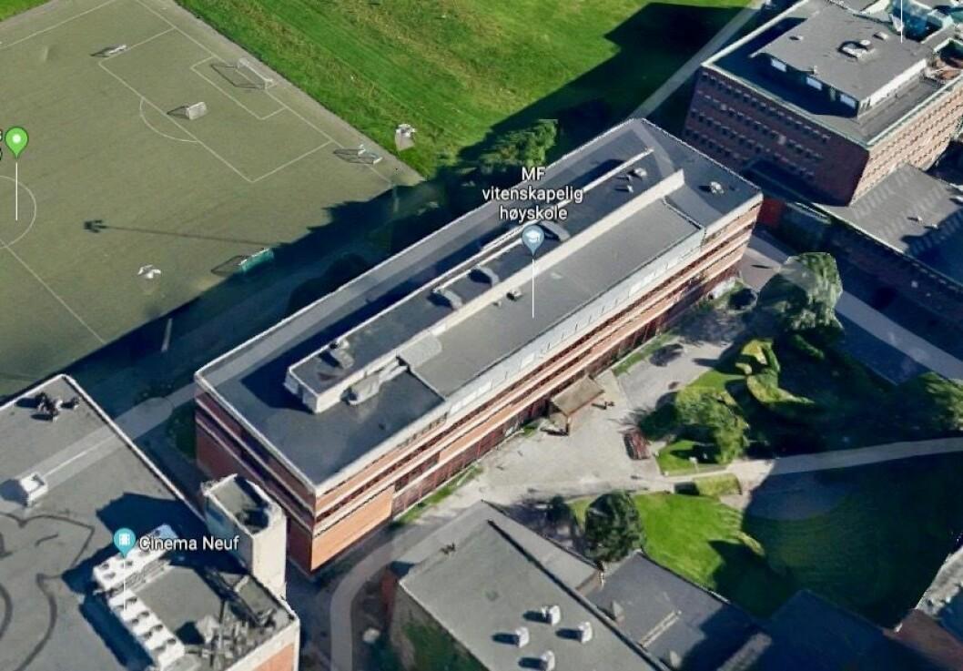 NY ETASJE: MF-bygget ble oppført i 1972, og kan nå få en ny etasje. Foto: Google Street View
