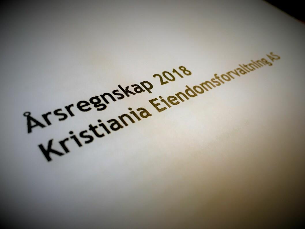 FORBEHOLD: Revisor har valgt å ta forbehold rundt verdsettingen av eiendeler i Kristiania Eiendomsforvaltning.