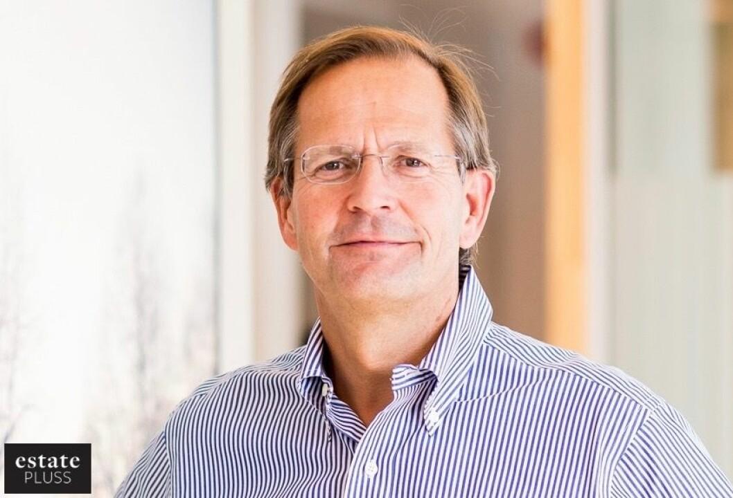 GODT FORNØYD: Salg av eiendommer gir hyggelige tall for administrerende direktør Peder Chr. Løvenskiold i Anthon B Nilsen Eiendom.
