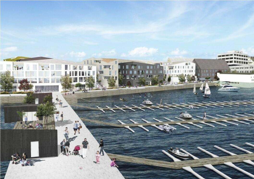 BYDEL: Slik ser Slyngstad Aamlid arkitekter for seg Skutvika i fremtiden.