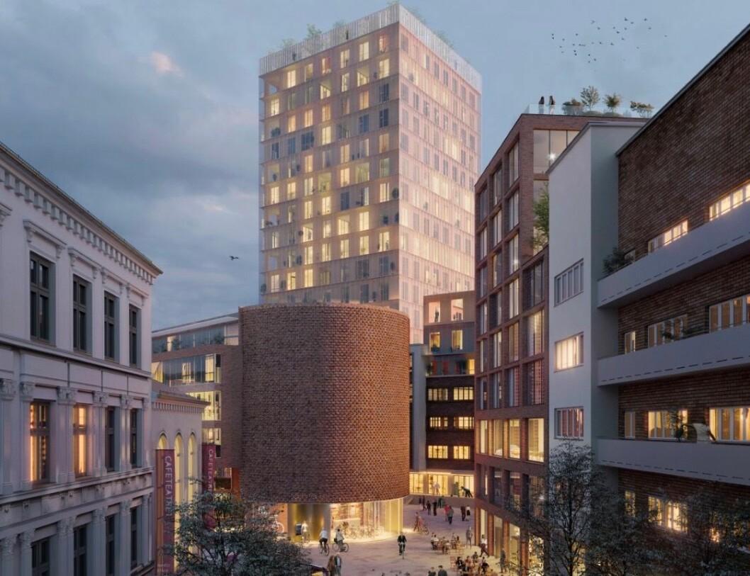 POSITIV: Bortsett fra de 2-3 etasjene er Riksantikvaren positiv til de nye løsningene. Ill: Transborder Studio