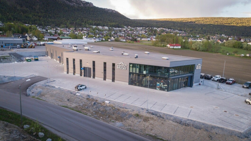 NY: Holtefjell Eiendom bygger næringspark på Solbergelva. Arctic Trucks flyttet inn i det første nybygget tidligere i år. Foto: Malling