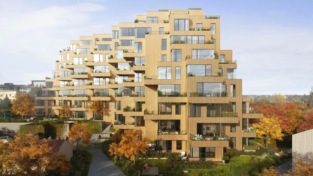 BLOKKER: Solid Entreprenør  skal bygge Gotaasalléen på Jessheim for Stor-Oslo Eiendom.