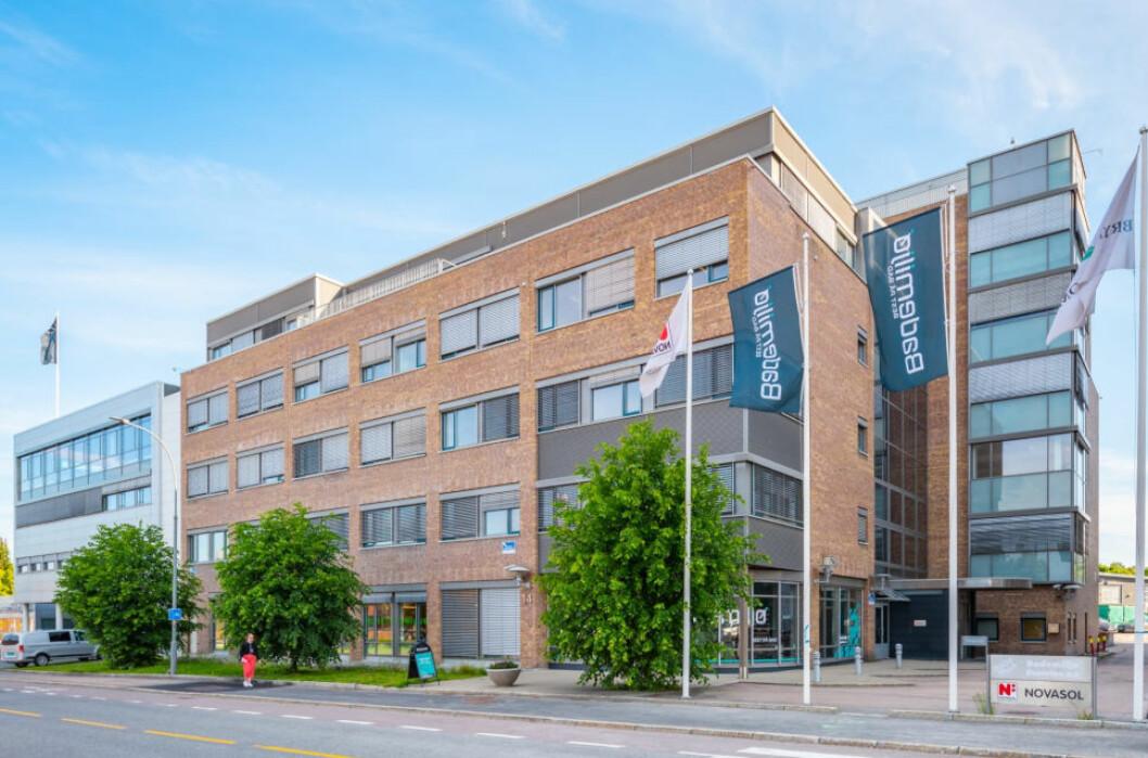 VOKSER PÅ BRYN: Bryn Eiendom kjøpte Østensjøveien 14 i fjor, og selskapet jobber nå med å fylle eiendommen med nye leietakere. (Foto: Bryn Eiendom)