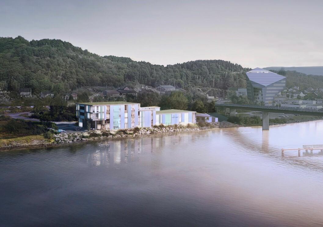 TEKNOLOGI: R8 skal bygge dette teknologisenteret for i Porsgrunn, for Norner. Ill.: Børve Borchsenius