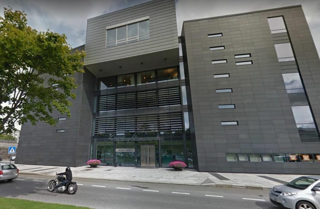 I RETTEN: Jæren Tingrett hadde saken mellom en misfornøyd kjøper av et boligpåbygg og en entreprenør i krise. Foto: Google Street View.