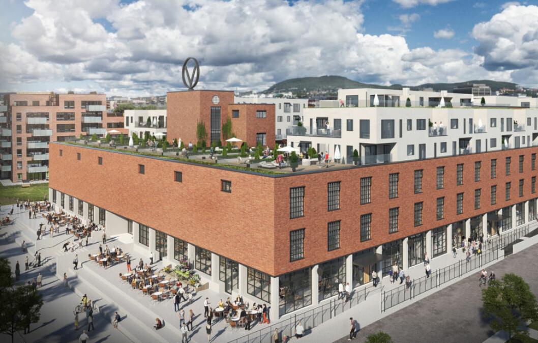 KONTRAKTSVERDI 600 MILL.: Solid Entreprenør har ansvaret for byggingen av 223 leiligheter og ca. 8000 m2 butikklokaler i Haslevangen i Oslo. Men for Solid blir ikke lønnsomheten som forventet.