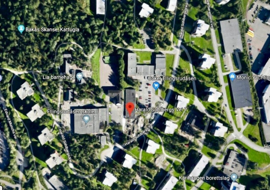 ØKT UTNYTTELSE: Mehar Gruppen AS vil omregulere for å få høyere utnyttelse av tomten. Foto: Google Maps