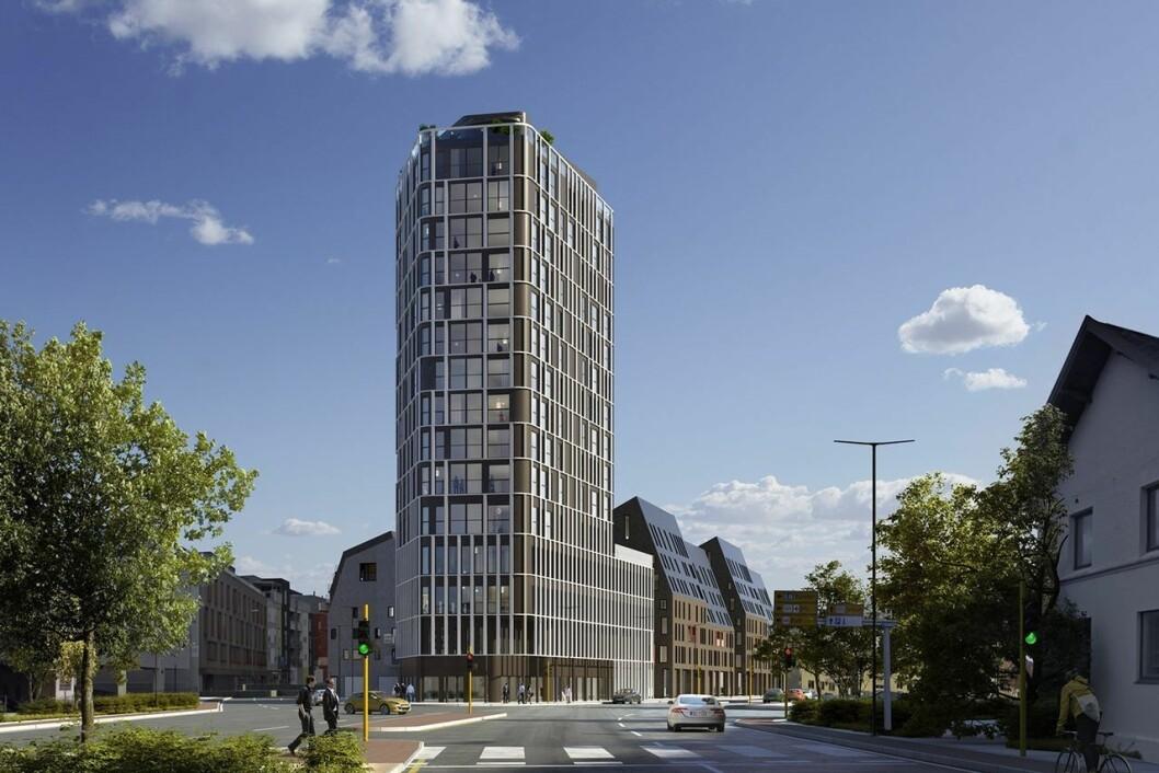 HØYEST: Møllekvartalet blir det høyeste bygget i Sandnes.