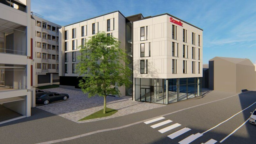 NYTT: Scandic Victoria hotell i Lillehammer blir nå totalrehabilitert og utvidet med en ny fløy. Ill.: Studio NSW
