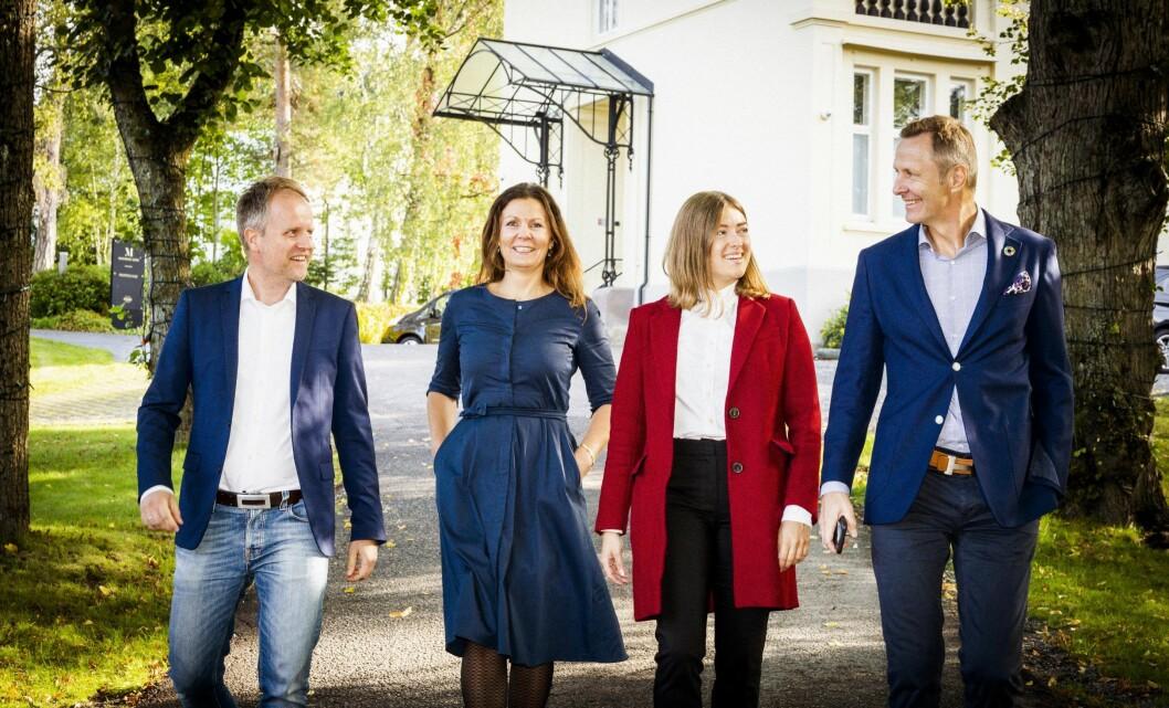 NYE: Mad Communication ansetter to nye partnere; Terje Gulbransen og Nina Kristin Amdahl.  Fra venstre Terje Gulbrandsen, Nina Kristin Amdahl, Kamila Loba og Nicolai Riise.
