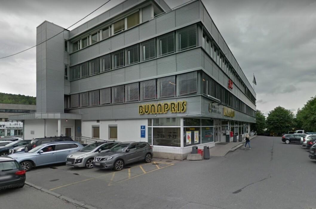 KONTOR- OG HANDELSEIENDOM: Eiendommen har nå fått inn en Coop Extra-butikk i første etasje. Foto: Google Street View.