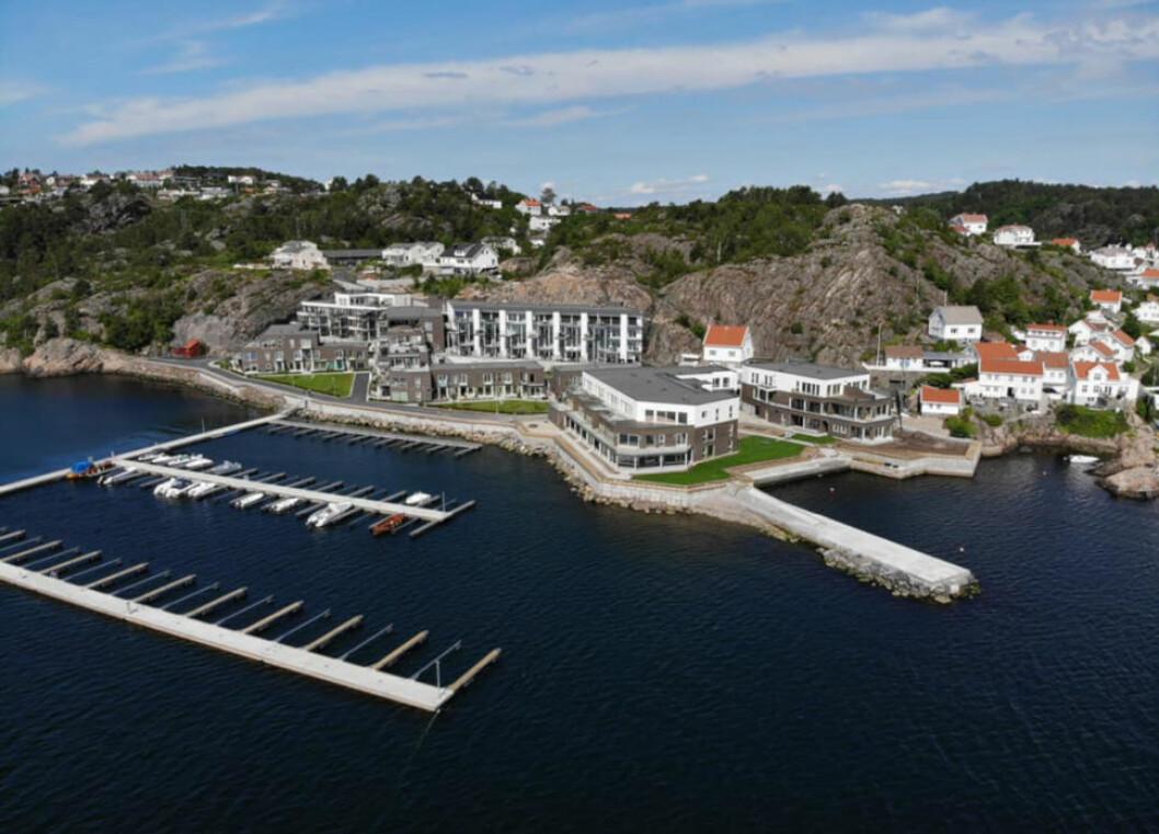 BYGGER STORT: Blant prosjektene til tidligere Faktor-topp Lasse Fosby er Flisvika i Risør med 95 leiligheter.(Foto: Lindal Gruppen)
