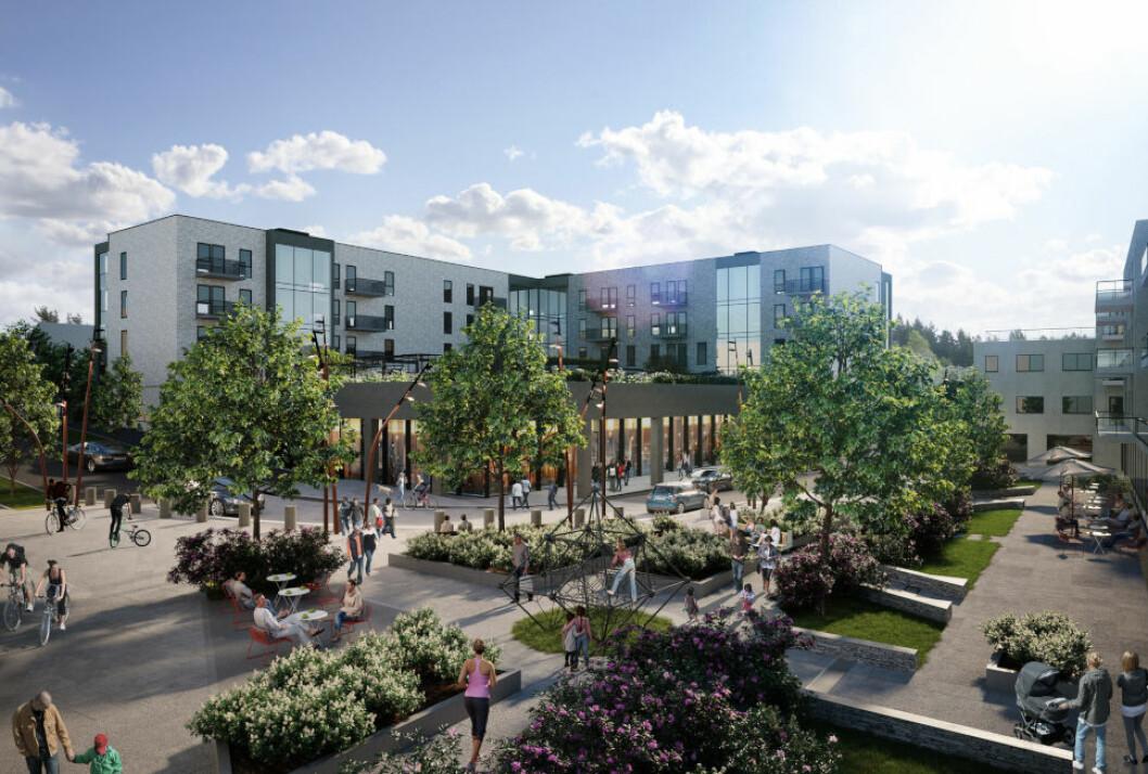 OPPEGÅRD: Centralen i Oppegård er blant de større boligprosjektene til Bolig & Eiendomsutvikling.