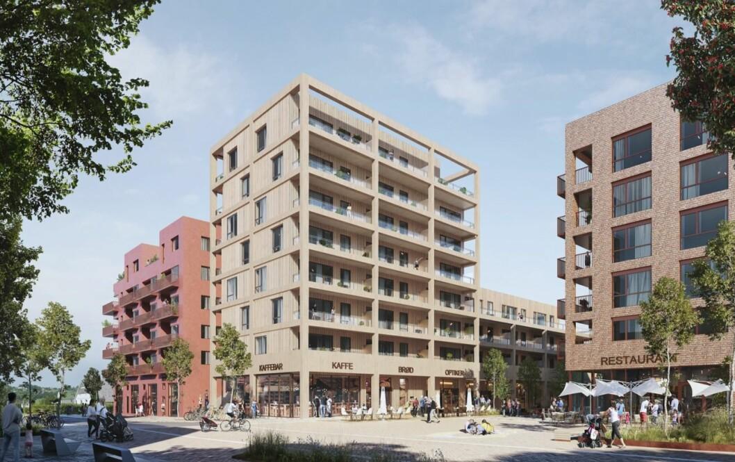 UTVIKLING: Urbanium Eiendom er en av aktørene som skal trabnsformere Sørumsand sentrum. Ill.: Dyrvik arkitekter