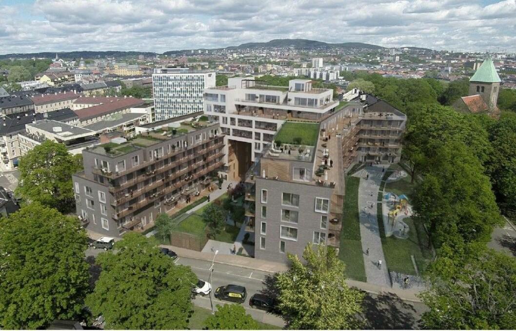 UTLEIE: Thons blokkprosjekt på Akershøyden er nå ferdig. Ill.: AART architects