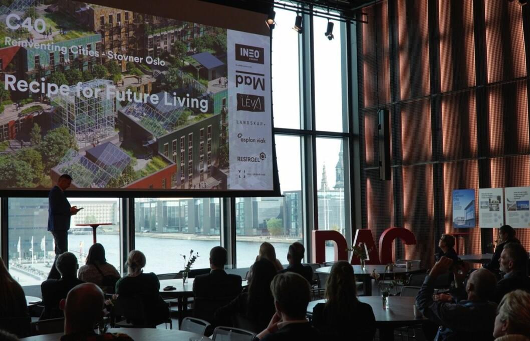 GÅR UT: Nicolai Riise presenterte Stovner-prosjekt for ordførere fra hele verden og andre klimatopper i København. Foto: Mad Arkitekter.