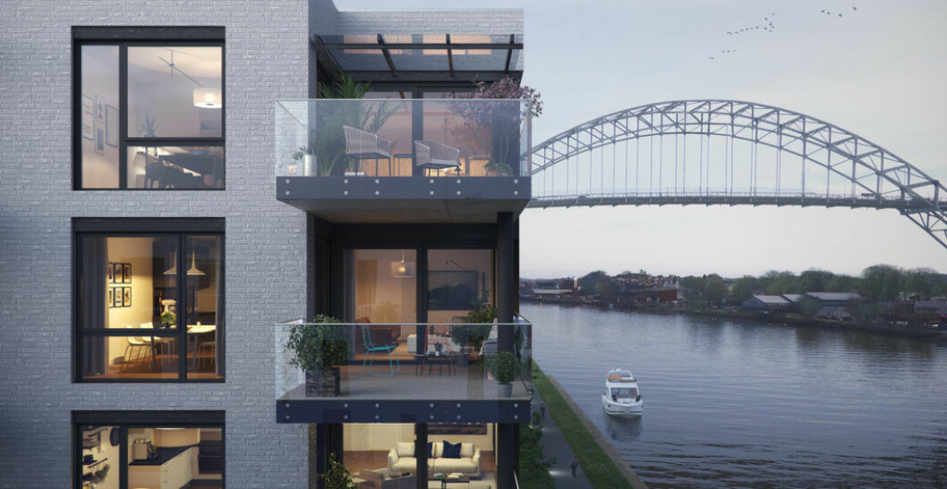 STORT: Bellevue Brygge i Fredrikstad er et av Bane NOR Eiendoms store boligprosjekter.