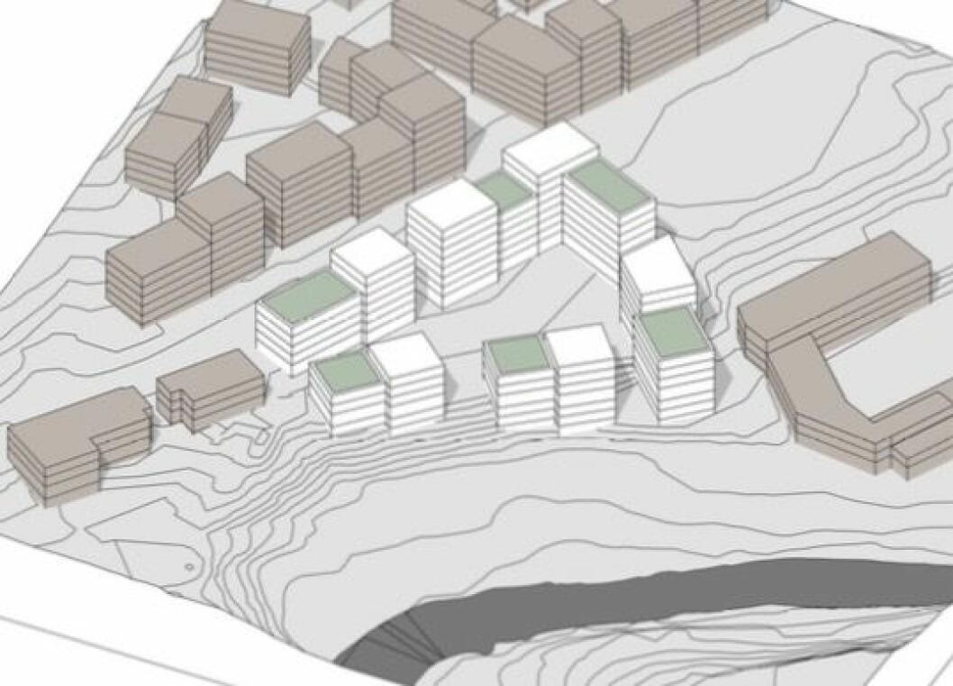 SOL: Ifølge Grape Architects er eiendommen godt eksponert for sol, og er stor nok til å kunne utbygges med rause og gode uteareal.