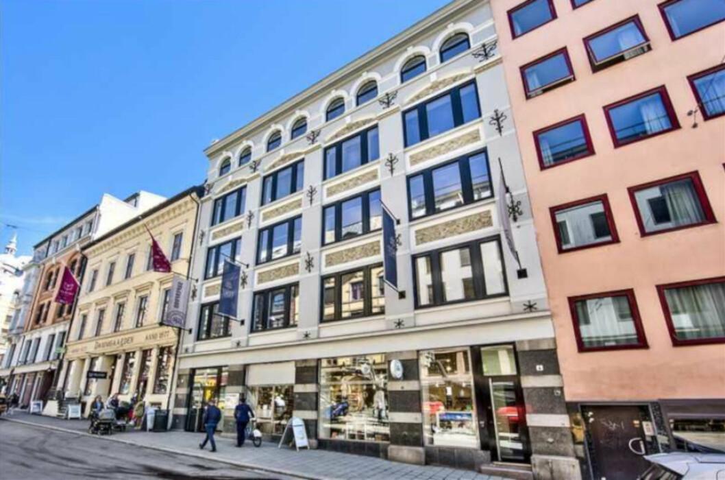 KVADRATUREN: Torp Eiendom eier flere eiendommer i Kvadraturen. Blant disse er Øvre Slottsgate 4, som ble oppført i 1897.