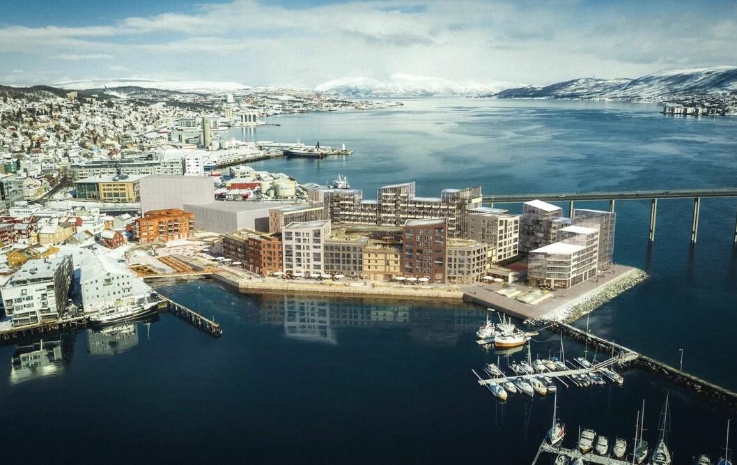 NY: Totaleiendom skal bygge en helt ny bydel i Tromsø. Ill.: LPO arkitekter