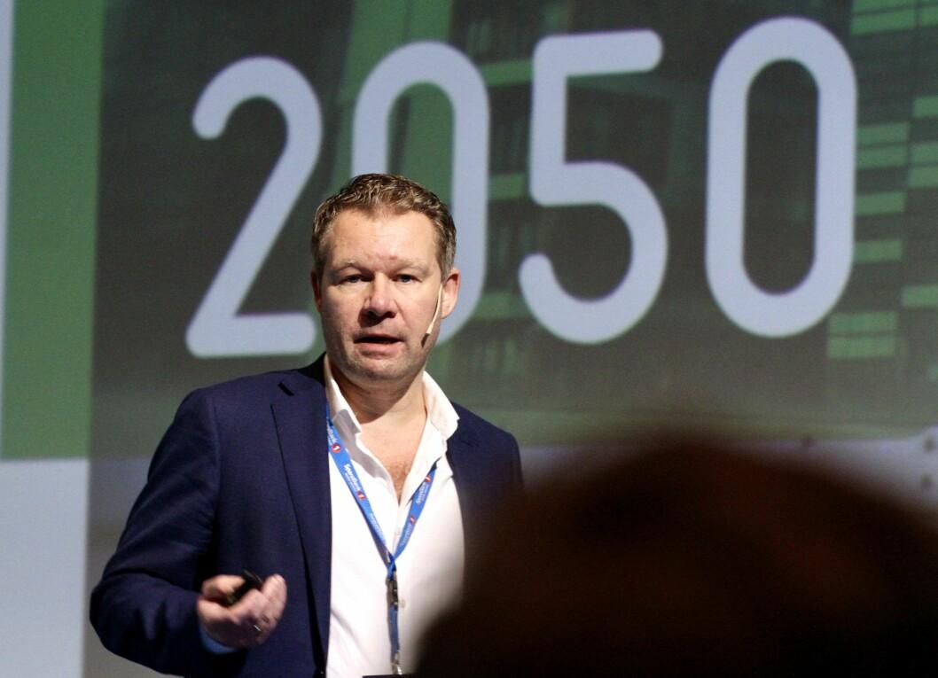 MILJØ: Anders Coucheron i Hundholmen Byutvikling er sikker på at  eiendomssektorens veikart mot 2050 og andre miljøkrav blir viktigere og viktigere for bransjen.
