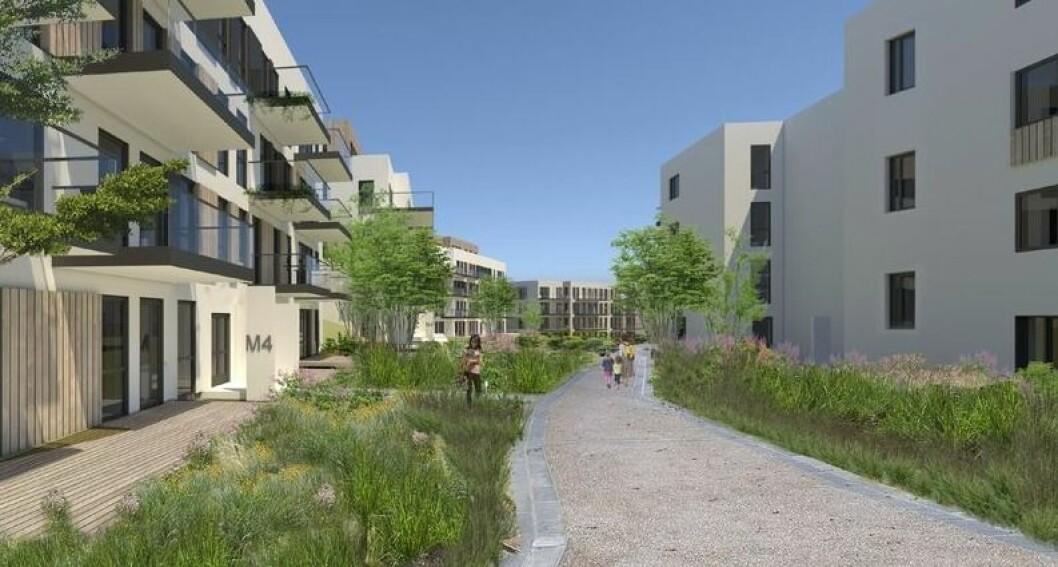 BYDEL: Norgesgruppen vil bygge 168 leiligheter på Langhus.