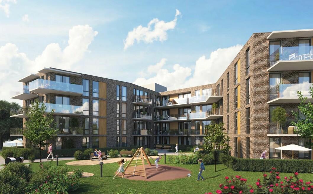 5 400 KVM: Planområdet får en samlet utnyttelse med et bruksareal på 5 400 kvadratmeter Ill: Arcasa arkitekter