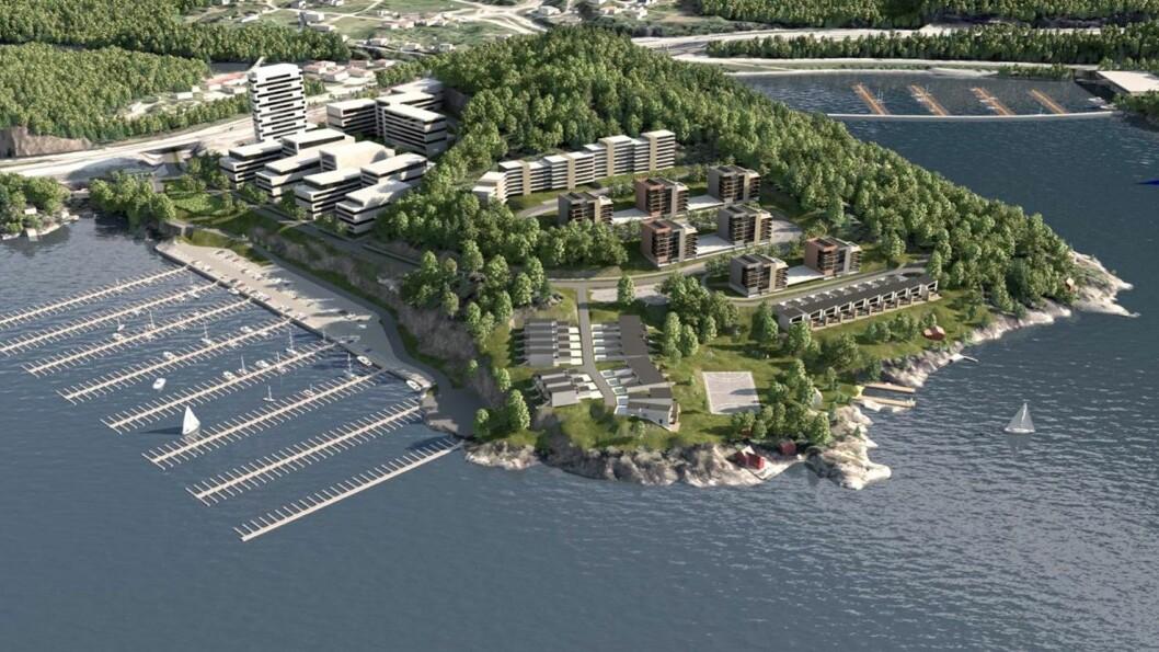 SØRLANDSIDYLL: Veidekke Bolig skal bygge 267 boliger på Strømsheia.