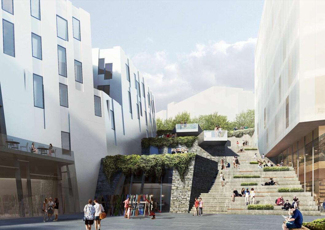 NÆRING: Backe Romerike skal bygge parkeringshus og kontorlokaler på Lørenskog. Blant annet.