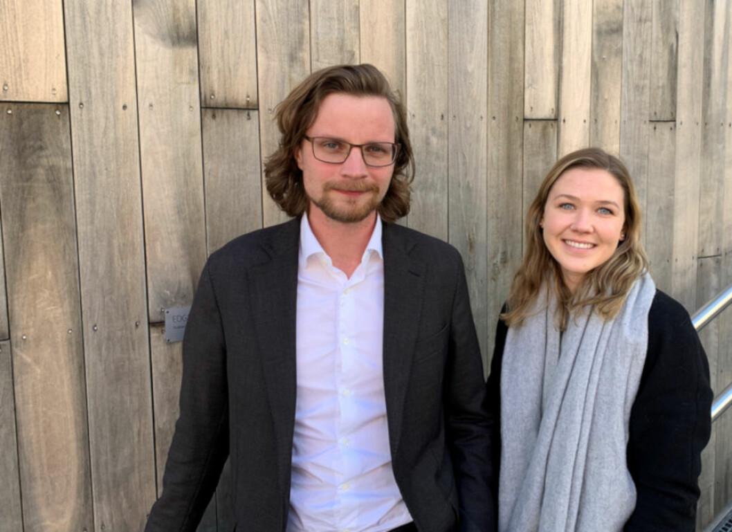 REDEGJØR FOR PLUNDER OG HEFT-KRAV: Advokat Halvor Mathisen og advokatfullmektig Jorunn Wessmann Wirkola, begge Advokatfirmaet BAHR AS.
