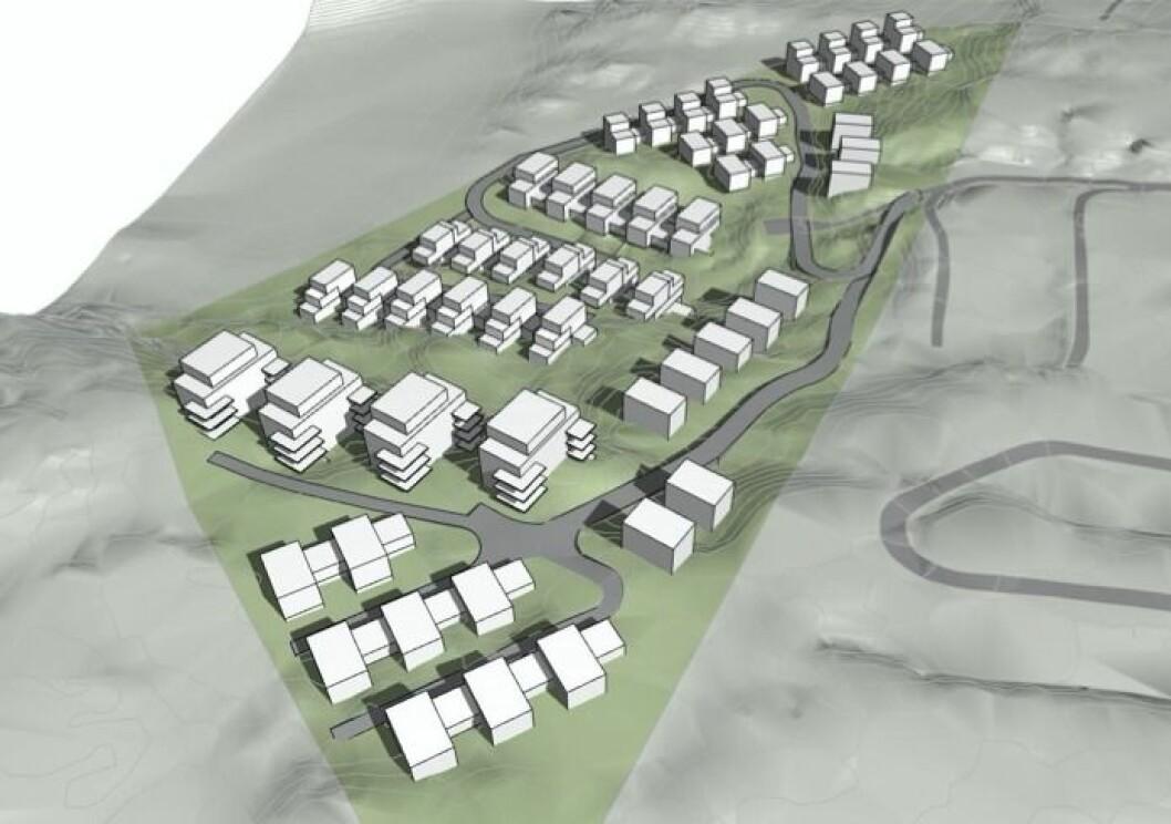 STOPP: Frogn kommune har skjøvet dette prosjektet ut i uvissheten, samtidig med at boligbyggingen står nærmest stille.