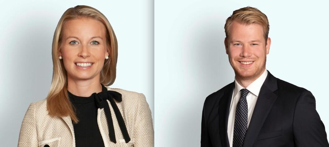 Advokat Stine Heggset Woxmyhr og advokatfullmektig Alexander Stulien i Thommessen.