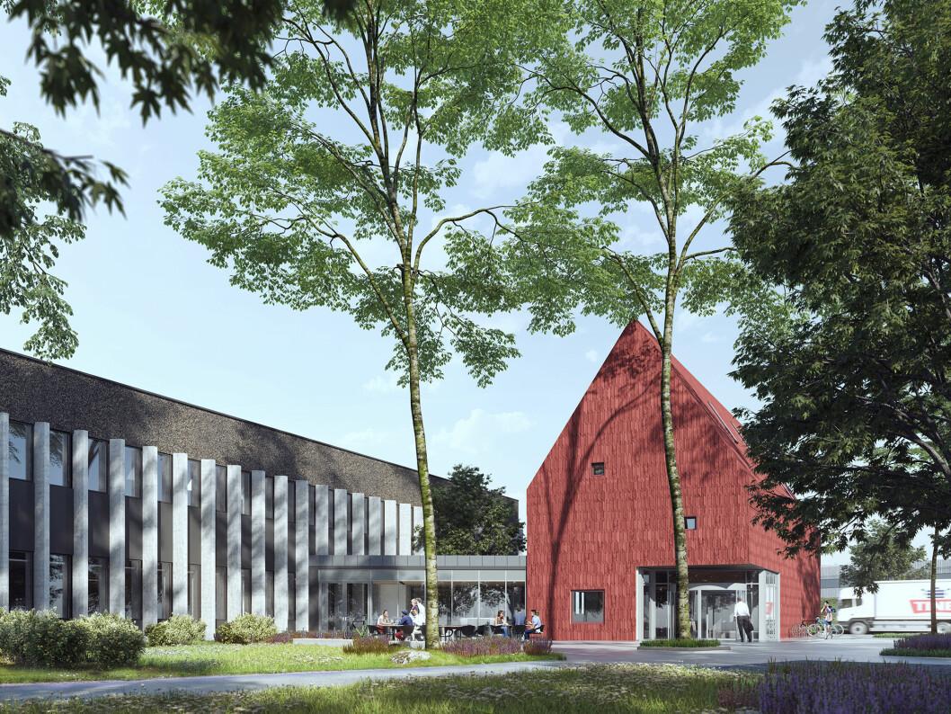 ØKONOMISK: TINE sparer store penger på å flytte av sentrum. Ill.: LPO Arkitekter