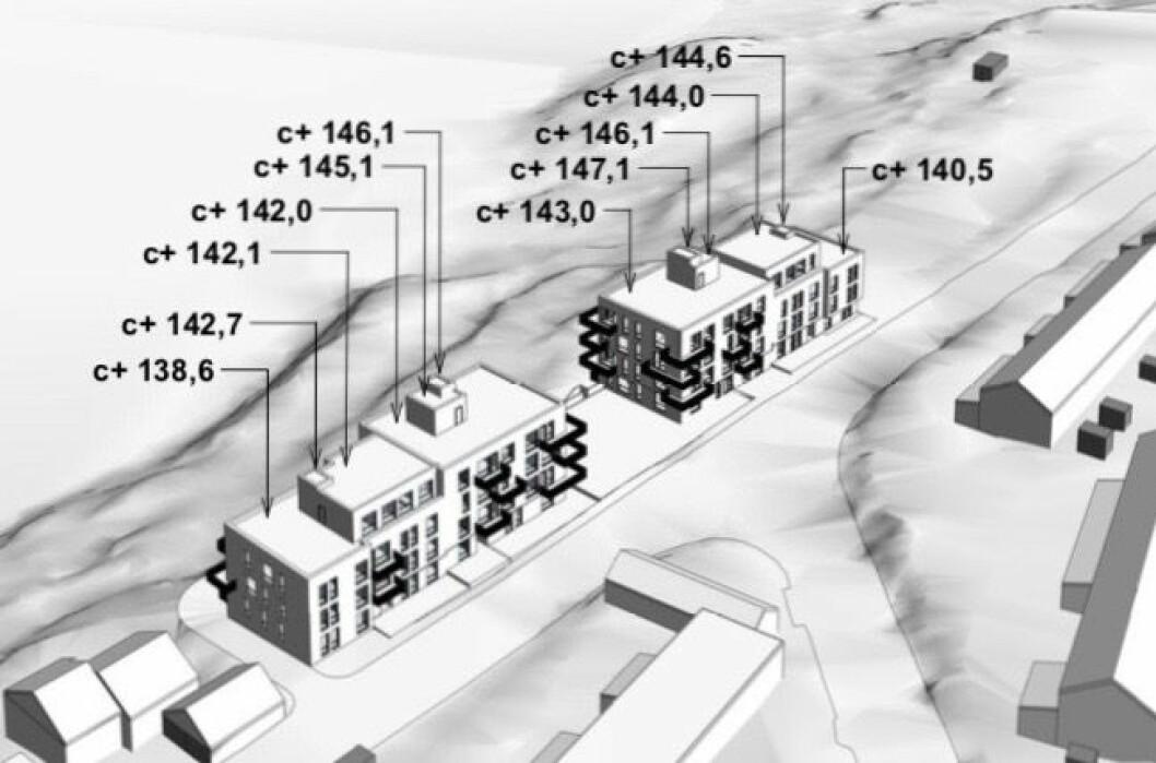 49 LEILIGHETER: Neptune Properties vil bygge 49 leiligheter i Bogerudveien 15. Ill: Aart/SJ architects