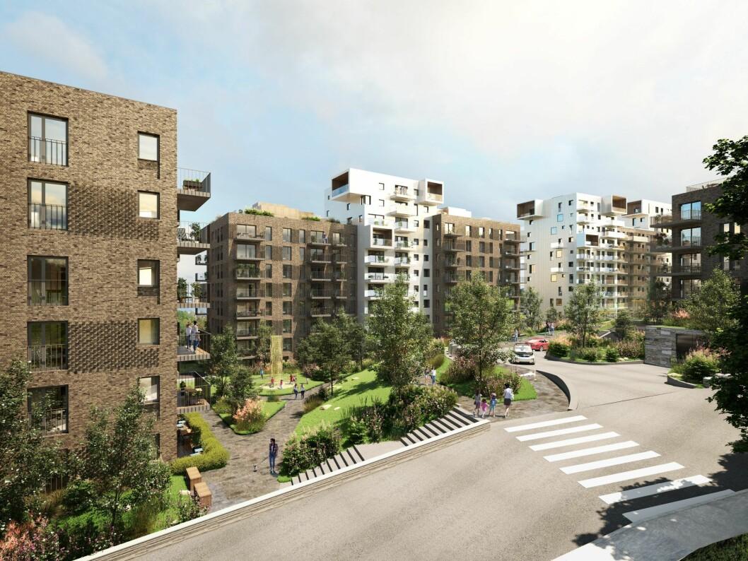 FORTSETTER: AF Gruppen skal bygge ytterligere to blokker på Røa for OBOS Nye Hjem.