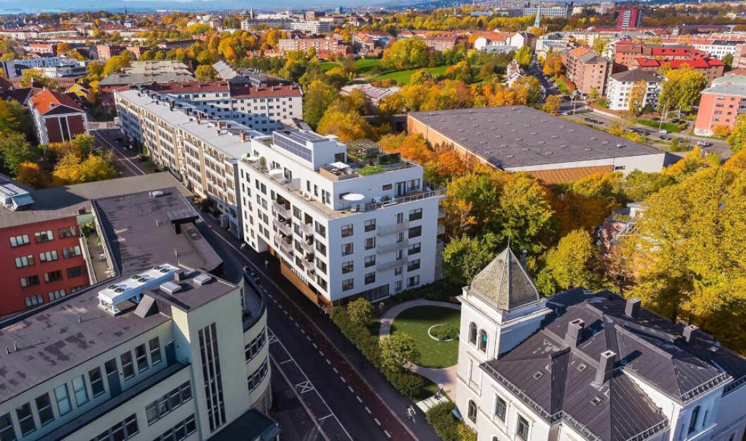 JM-PROSJEKT: I årene fremover skal rendyrking av boligutvikling løfte marginene i JM. Her JM-prosjektet Green Park på Torshov i Oslo, hvor 19 av 36 leiligheter er solgt per 20. november.