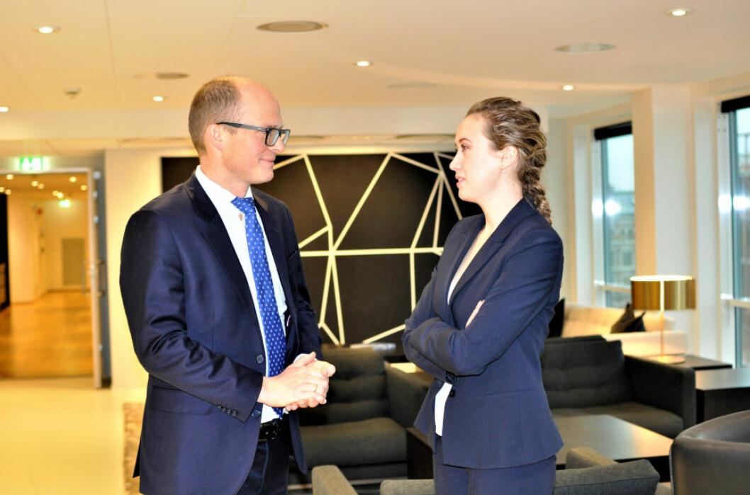 VARSLER OM NYE REGLER: - Lovforslaget kan gjøre det vanskeligere for aksjeselskap å stille pant i forbindelse med eiendomskjøp, sier Ditlef Thaulow og Johanne Grindstad i Advokatfirmaet Schjødt.